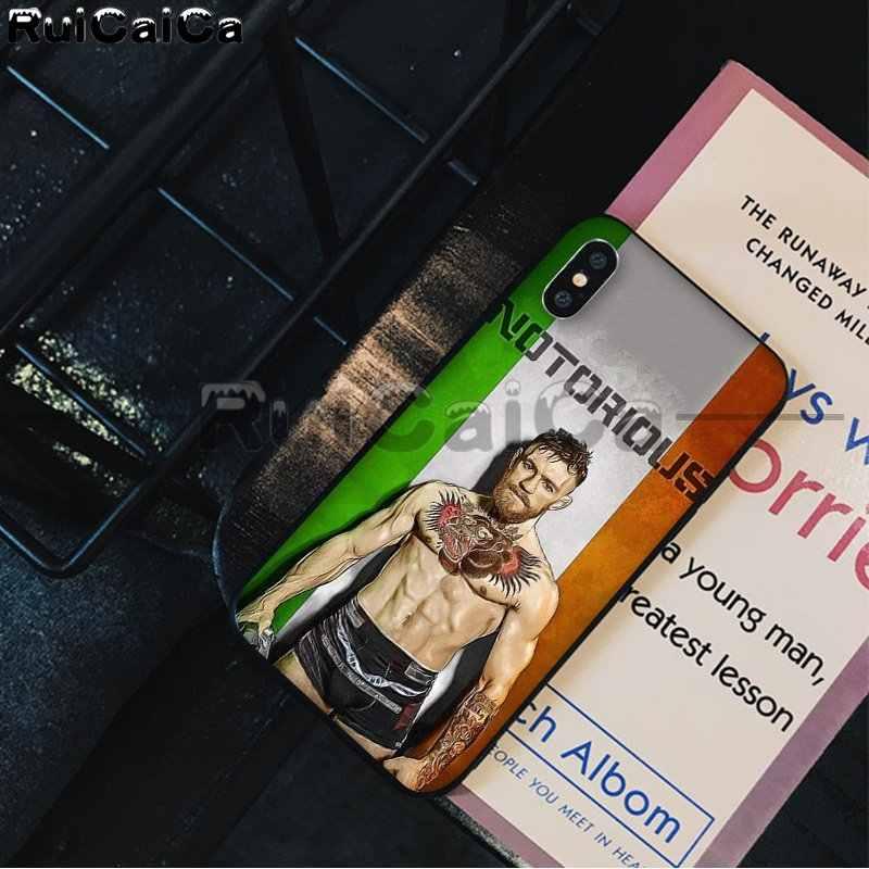 RuiCaiCa UFC Конор Макгрегор Роскошный Уникальный Дизайн чехол для телефона iPhone X XS MAX 6 6 S 7 7 plus 8 8 Plus 5 5S XR