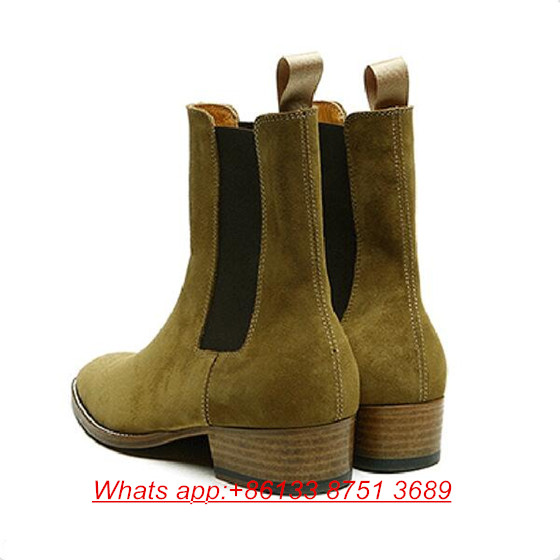 37974d1ead605 Hot Warehouse High Quality Chelsea Boots Men Martin Style slp Genuine  Leather Ankle Boots Men Kanye West Boots Men Shoes Male-in Motorcycle boots  from Shoes ...