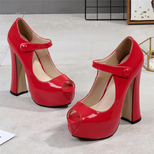 Image 4 - MAIERNISI Pumps Female Shoes Fish Mouth Platform Women Pump Solid High Heels 14cm Shoes Pumps Sexy Shallow Single Ladies Shoes