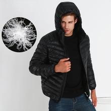 2016 Зима Новый Открытом Воздухе Ultra Light Вниз повседневные Куртки Мужчины Перо Человек теплая Зима дышащий Куртка Пальто Плюс Размер S-3XL