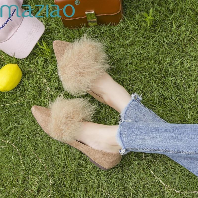Mocassins Unie Orteil Pointu slip Couleur Chaussures Dames Confortable Maziao Métal Décoration Beige En Appartements noir Non qwvgUCC