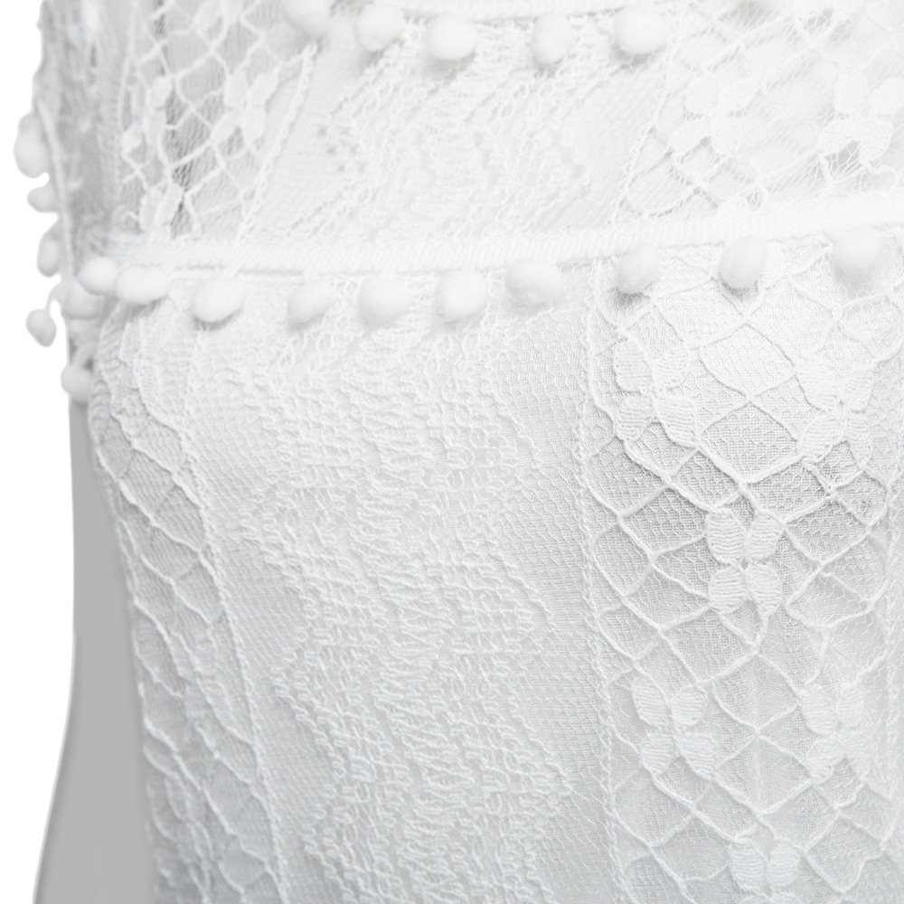 VESTLINDA Lace Dress Women O Neck Sleeveless Solid White Dress Summer 2017 Fresh Style Loose Mini Short Dress Vestidos Plus Size 14