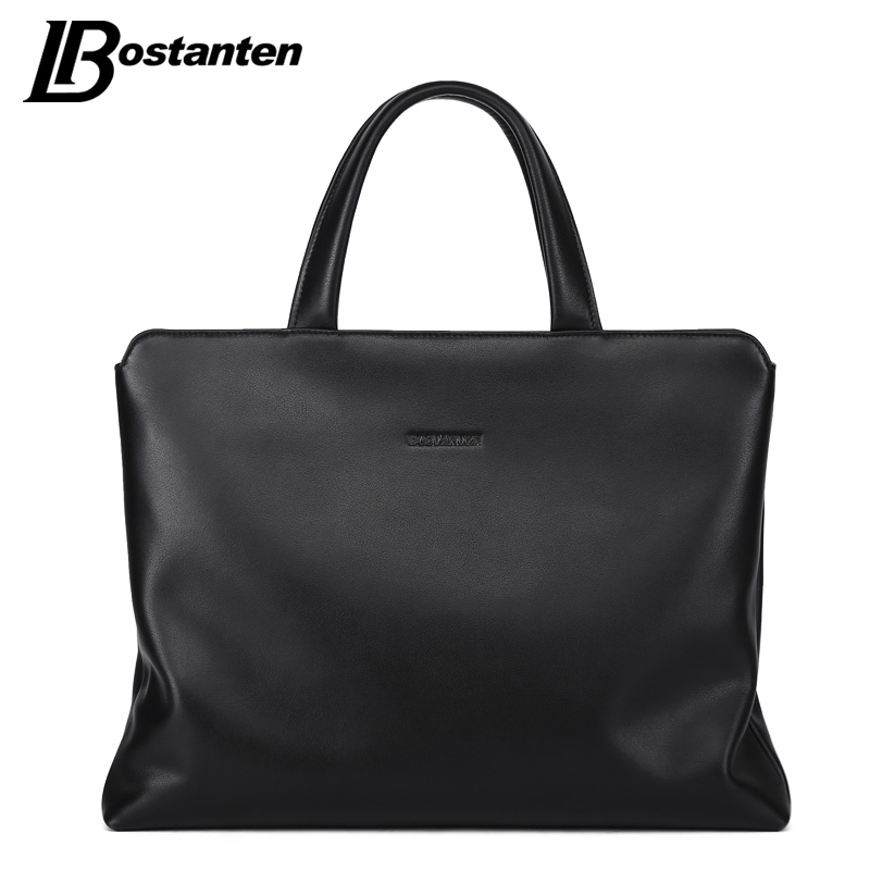 BOSTANTEN New Genuine Leather Men Handbags Large Laptop Briefcase Male Crossbody Bag Men s Travel Bags