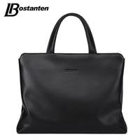 BOSTANTEN New Genuine Leather Men Handbags Large Laptop Briefcase Male Crossbody Bag Men S Travel Bags