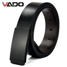 VADO Belts cummerbunds Alloy buckle Leather belt men luxury male strap designer leather belts for men High quality