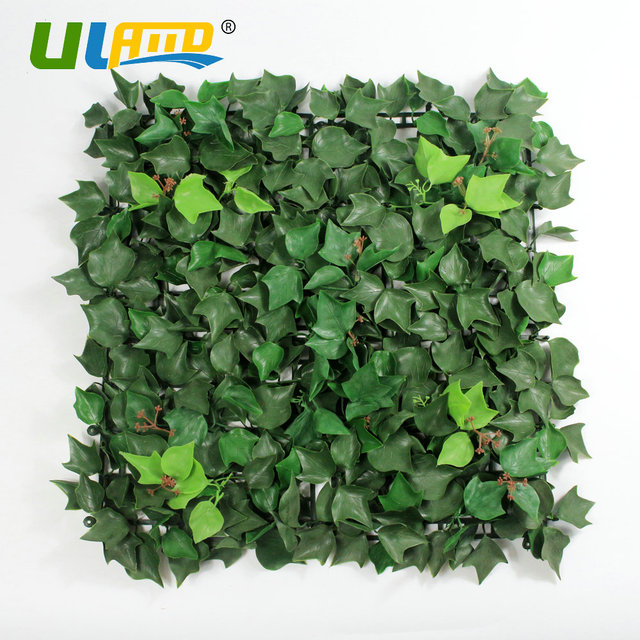 Uland Plastic Ivy Vines Plants Panel 1pc 50x50cm Pc Artificial Hedges Greenery Fence Wall Cover