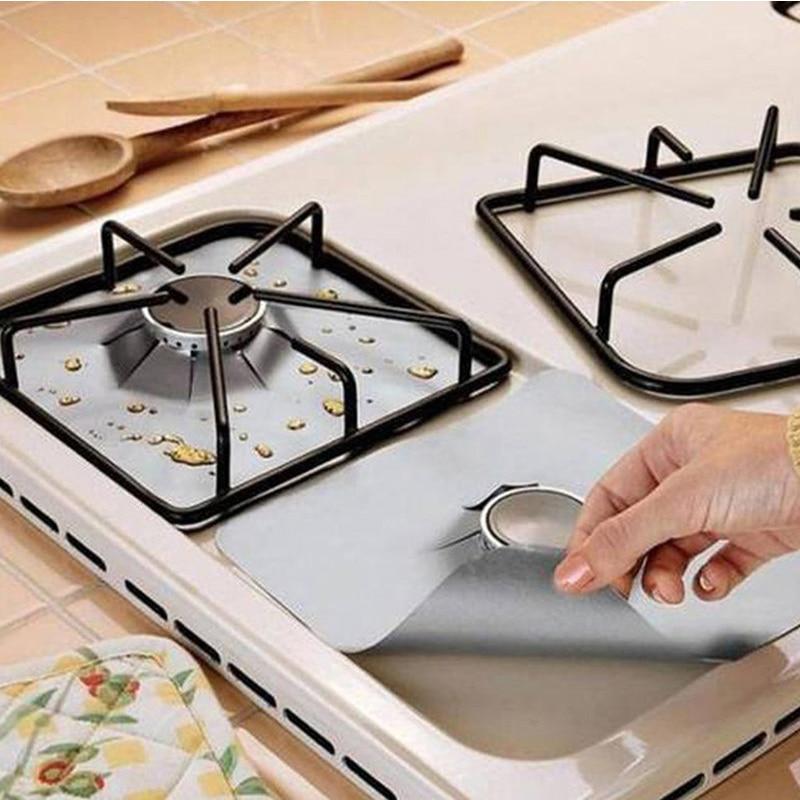 YTE estufa de Gas protectores 1 pc reutilizables quemador de la estufa de Gas de la cubierta del trazador de líneas de fuego lesiones protección salvamanteles cocina herramientas especiales