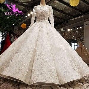 Image 1 - AIJINGYU Pakistanischen Hochzeit Kleider Kleider Nähen Auf Kristall Perlen Erschwinglichen Kleid Geschäfte Hochzeit Kleid Spitze