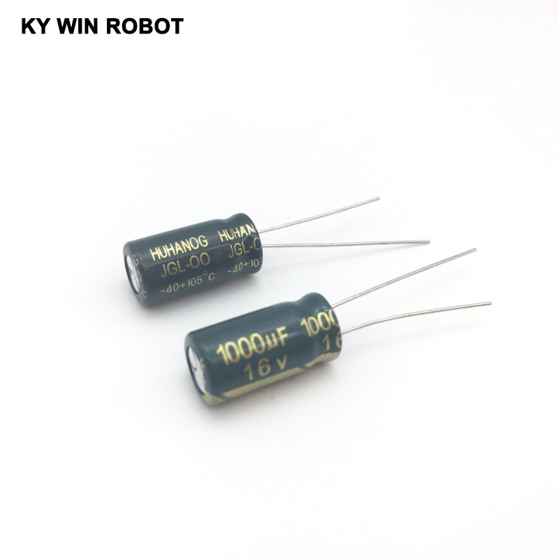 <font><b>50pcs</b></font>/lot <font><b>16V</b></font> <font><b>1000UF</b></font> 8*16 high frequency low impedance aluminum electrolytic capacitor <font><b>1000uf</b></font> <font><b>16v</b></font> image