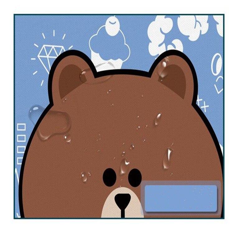 chegam novas dos desenhos animados urso marrom minnie coelho padrão