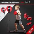 Crianças de Treinamento de Boxe Stand Perfuração Bola Velocidade De Boxe Muaythai-equipamento Do Edifício Do Corpo de Pressão Reduzida Brinquedos de Lazer com Luvas