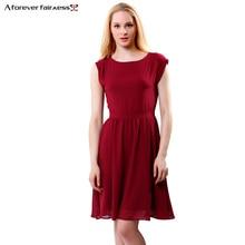 A Forever 2019News Fashion Women Dress High Waist Brief Casual Chiffon Sleeveless Pleated Dress O Neck Women Dress AFF1067 retro style sleeveless high waist printed pleated dress for women