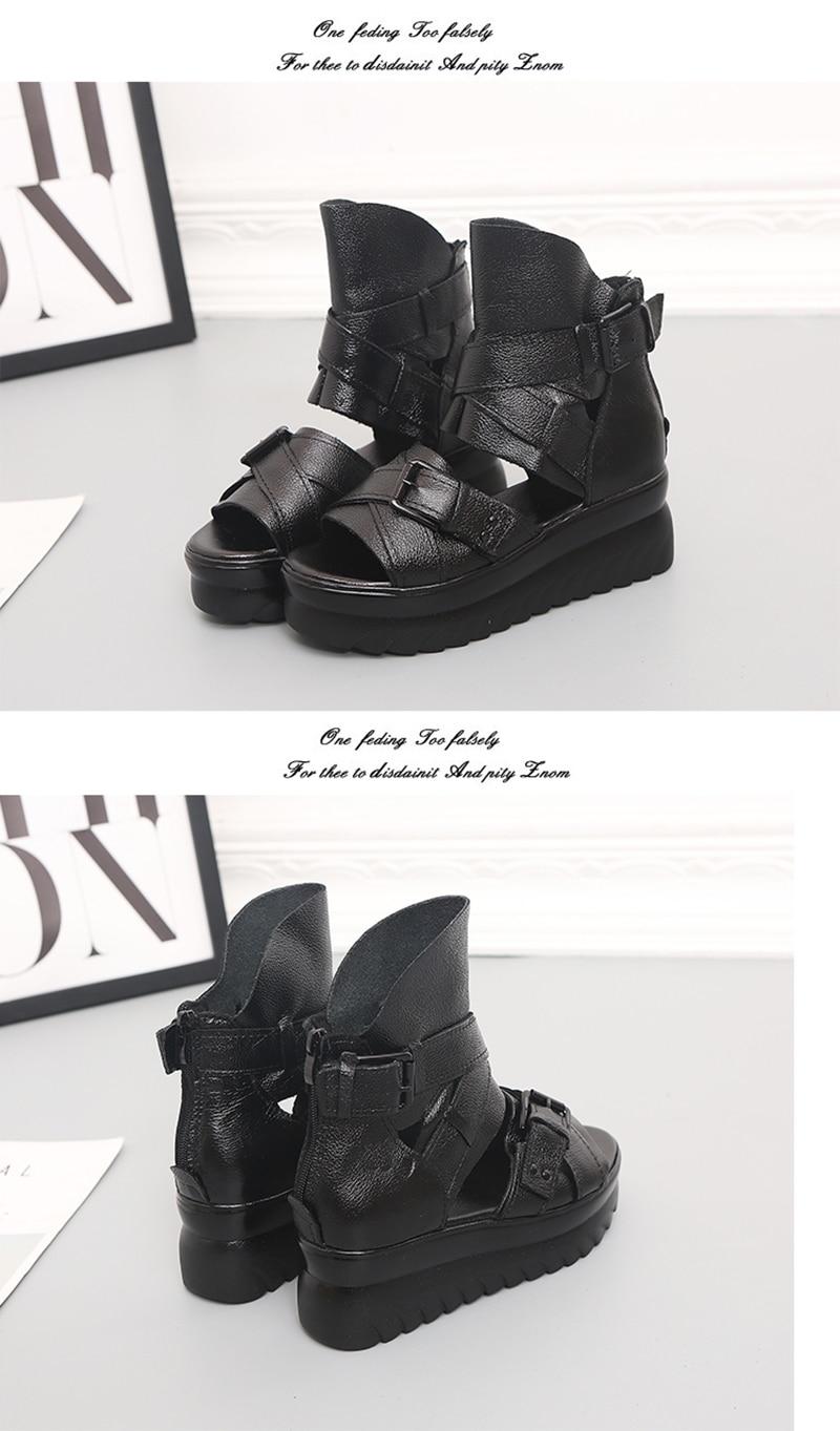 HTB1gKjTef1G3KVjSZFkq6yK4XXaH ADBOOV Genuine Leather Platform Sandals Women Summer Wedges Shoes For Women Sandalias De Verano Para Mujer Size 35-43