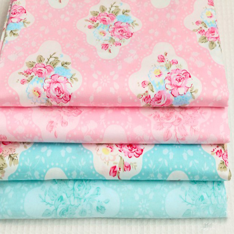 Spring Flowers Printed Cotton Fabric Fat Quarters Bundle Quilting Patchwork Sewing Fabric For Tilda Doll 40x50cm