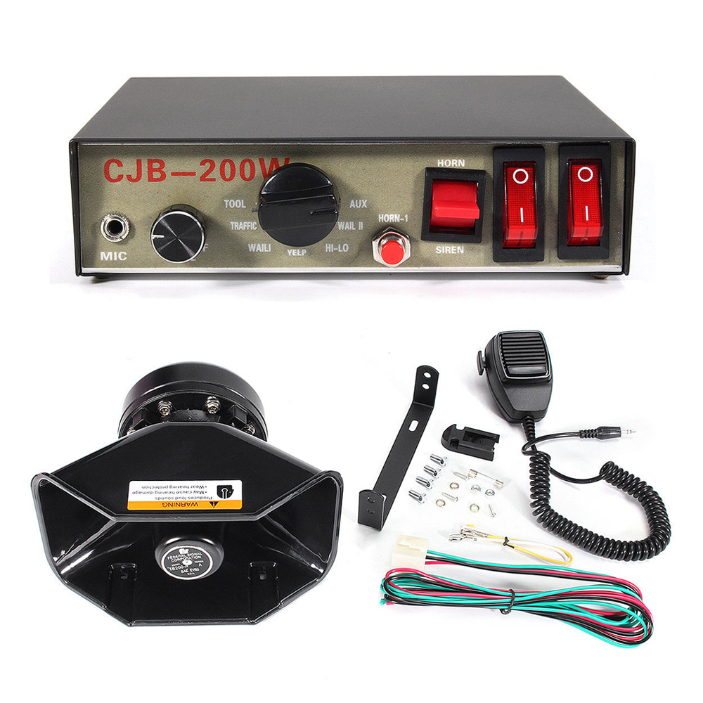 Emergency Horn Sound System for Police siren Fire Truck car 8 Tone sound super Loud speaker with Microphone warning alarm horn phfa motorcycle car auto vehicle van truck 5 sound tone loud horn siren max 12v g0479 t15 0 3