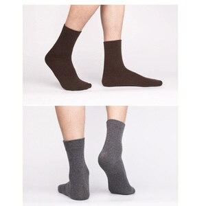 Image 3 - 5 paare/los Neue Wolle Männer Weibliche Socken Marke Mode Winter Warme Kaschmir Socken Atmungsaktive Feste Farben Meias Herren Süße Geschenk