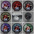 GRe ** GReddi Gauge Medidor de Temperatura del Agua de 7 Colores de Luz LCD pantalla Con Medidor De Voltaje Racing Gauge 62mm 2.5 Pulgadas Con Sensor
