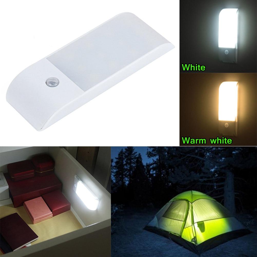 LED Motion Detector Night Light Stick-On Magnetic Strip USB Recharge for Closet Nursery Hallway ALI88