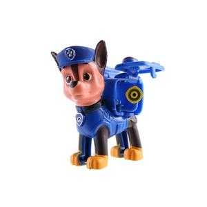 Image 5 - 6 יח\סט Paw סיירת Patrulla Canina אנימה איור פעולה דמויות גור סיירת רכב צעצוע Patroling כלבי צעצועים לילדים