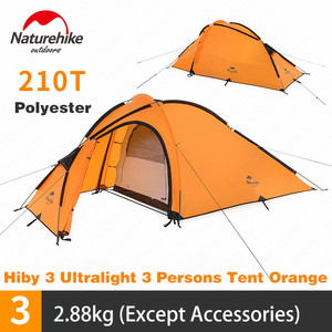 Image 2 - Naturehike Hiby Camping Tent 3 4 Persons Ultra light Outdoor Family Camping Double Layer Rainproof Travel Tent Hiking NH17K230 P