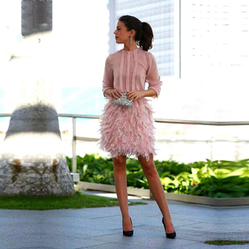 Popular Pink Feather Dress-Buy Cheap Pink Feather Dress lots from ...