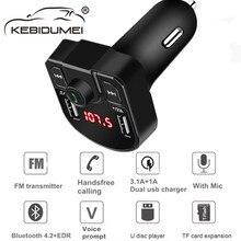 Bluetooth 4,2 MP3 плеер Handsfree автомобильный комплект fm-передатчик Поддержка TF карта U диск QC2.0 3.1A Быстрая Двойная USB Зарядка адаптер питания