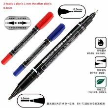QSHOIC 12pcs/lot fabric paint marker pen wholesale twin marker oil paint marker pens permanent fabric paint marker pen
