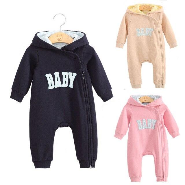 Baby boy одежда новорожденного ребенка ползунки зимние комбинезоны комбинезон roupas де bebe infantil девочка одежда молния розовый one piece