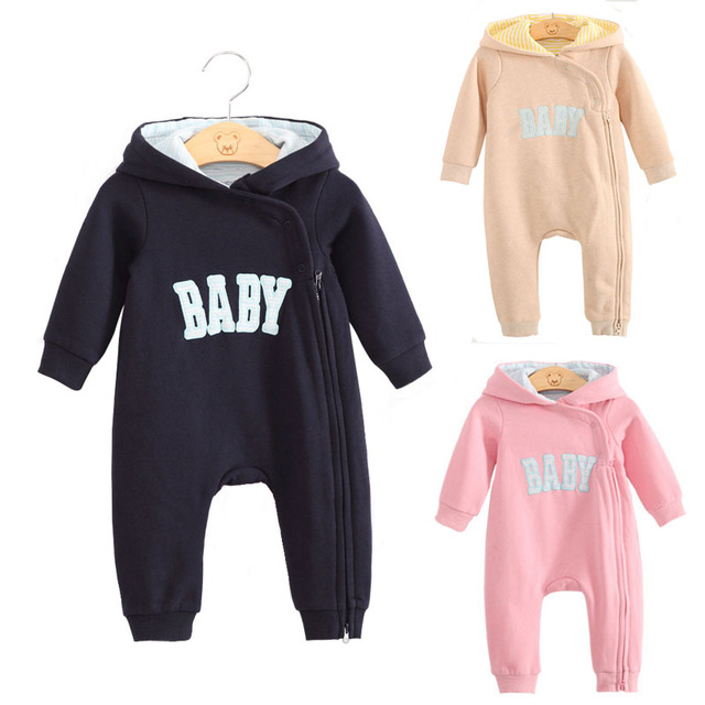 Baby boy clothes newborn baby romper winter rompers jumpsuit roupas de bebe infantil Baby girl clothing zipper pink one piece