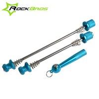 RockBros Utralight Steel Skewers MTB Road Bike Bicycle Quick Release Skewers Set Aluminium Alloy Nut 4