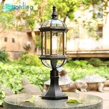 Rustic waterproof led Pillar Wall Lamp,Vintage outdoor glass LED post Lighting,Villas Garden Porch Home Landscape pathway lights