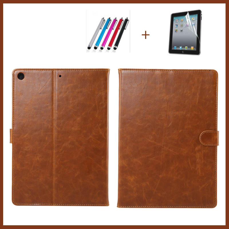 Case for iPad 2017 2018 9.7 New Tablet Stand PU Leather Magnet Smart Cover Auto Sleep/Wake for iPad 2017 9.7 inch+Film +pen