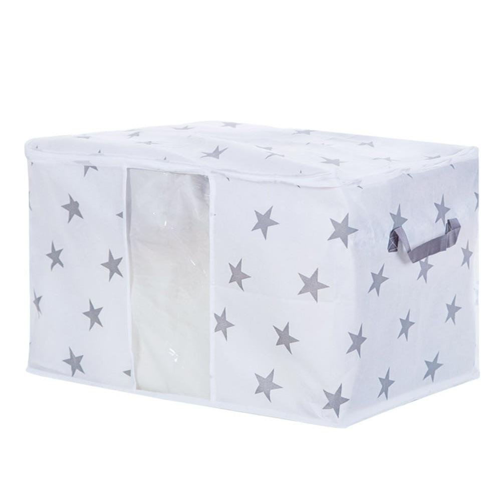 1 шт. сумка для хранения 42x27x50 см из нетканого материала складная сумка для хранения со звездой одеяло для одежды Одеяло Шкаф свитер Домашний Органайзер коробка - Цвет: 2