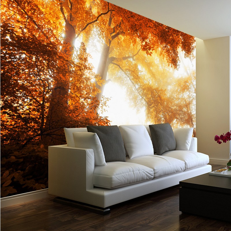 9 72 45 De Réduction Photo Papier Peint Haute Définition Automne Feuilles Forêt Paysage Fond Mur Salon Papier Peint Peintures Murales In Papiers