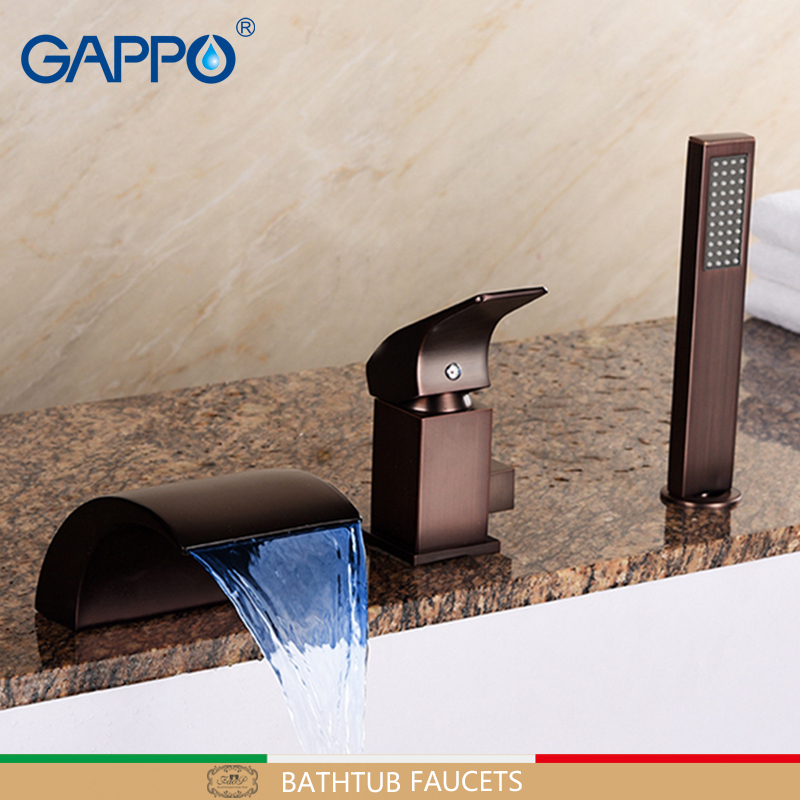 GAPPO Bathtub Faucet ORB bathroom shower taps mixer LED waterfall bathtub faucet mixer taps LED bath tub faucet sink mixer