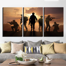 HD Print 3 Piece Canvas Art Patriotic US military Poster Paintings on Wall for Home Decorations Decor Framework