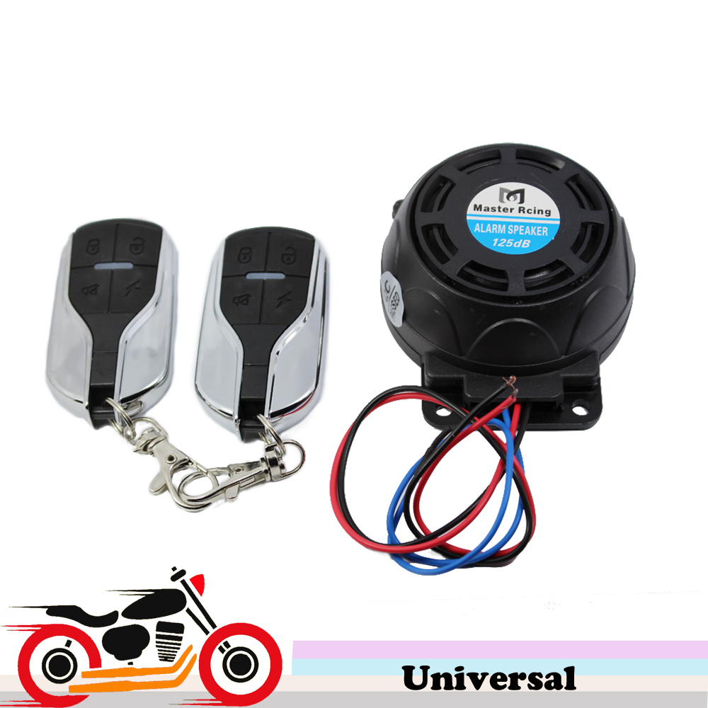 125dB Motorcycle Scooter Alarm Anti Theft  Security System Loud Sound Vibration Burglar Alarm For Harley Touring Yamaha Tmax 530