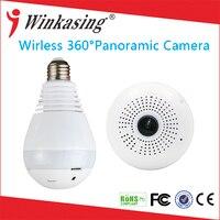 1080P Wireless IP Camera Bulb Light FishEye Smart Home CCTV 3D 360 Degree VR Camera 2MP