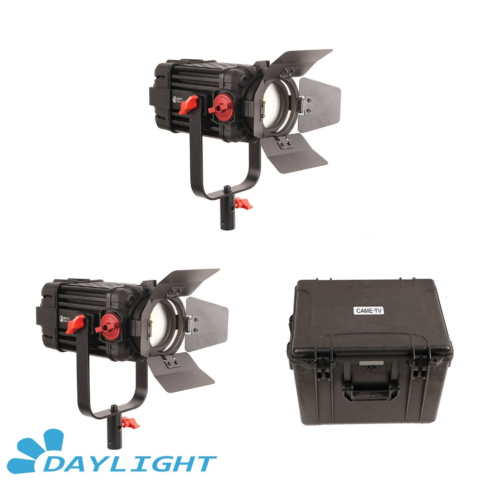 Image 1 - 2 Pcs CAME TV Boltzen 100w Fresnel Focusable LED Daylight Kit-in Photo Studio Accessories from Consumer Electronics