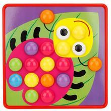 Детская мозаика с большими кнопками, грибные гвозди, паззл, игрушка для детей дошкольного возраста, Грибная кнопка, набор для ногтей, пазлы, детские развивающие игрушки
