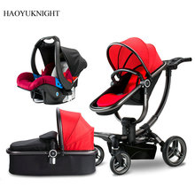 Baby Stroller High-view Can Sit in Children's Portable Four-Wheeler Shock Absorbers Two-way Folding Stroller 0-3 Years Old