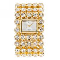 GLE VDO New Luxury Relogio Feminino Women S S Crystal Quartz Bangle Bracelet Watch Party Wristwatch