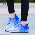 Knitting Women Casual Shoes Fashion 2017 Sport Lace Up Flat Heel Women Shoes Mixed Colors Breathable Spring outdoor Shoes ZD8