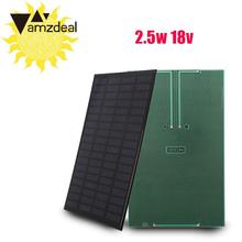 amzdeal 2.5W 18V Silicon Solar Charging Panel DIY Module Solar Charger Outdoor Travelling Solar Panel Powerbank Charger Board