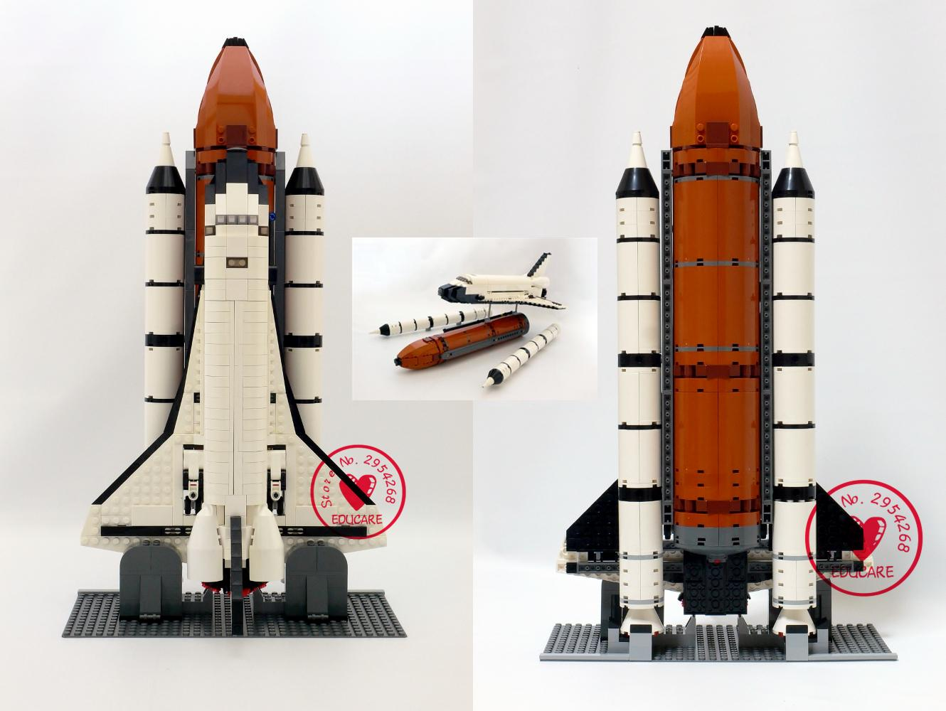 16014 1230Pcs Space Shuttle Expedition Model Building Kits Set Blocks Bricks Compatible with lego kid gift set lepin lepin 16014 1230pcs space shuttle expedition model building kits set blocks bricks compatible with lego gift kid children toy