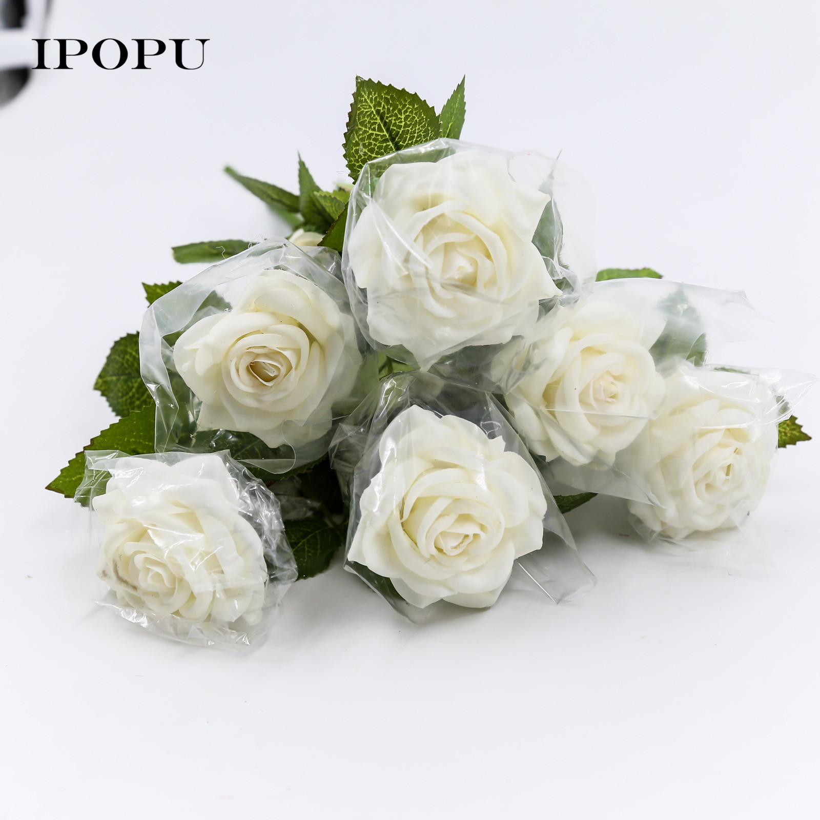 10PCS Artificial Silk Rose Flowers Hands Holding For Wedding Bridal Bridesmaid Flowers Bouquet party Anniversary Decoration