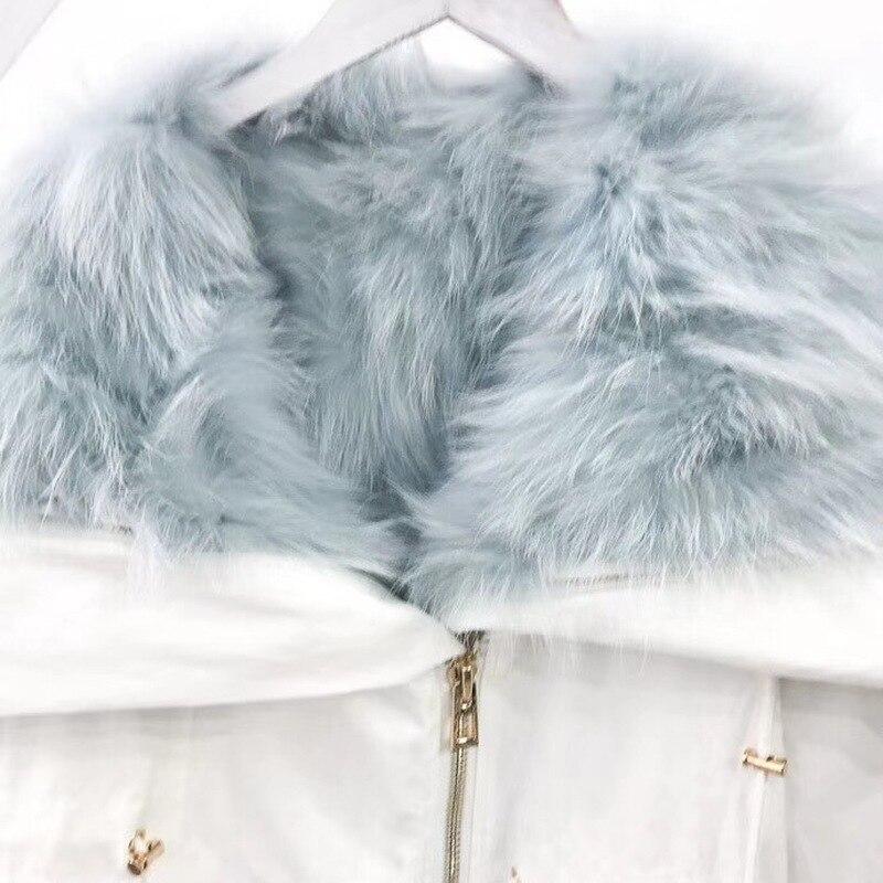 Casual Parkas Col Streetwear 1 En Femmes Nouveau 5 D'hiver De Luxe Natura Survêtement 2018 Veste 2 3 Manteau Fourrure Doublure Capot Réel Renard Chaud 4 Épais T18wxUq