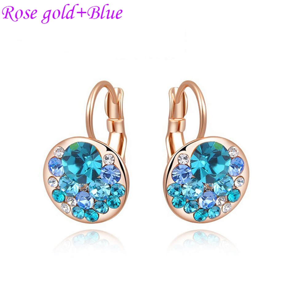 HTB1gKmHajzuK1Rjy0Fpq6yEpFXaX - Luxury Ear Stud Earrings For Women Fashion Round Charm Jewelry Romantic Lovely Accessories Gift Wholesale