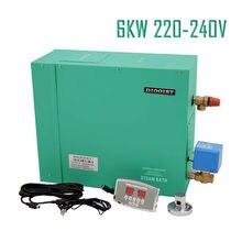 6 кВт 220-240 В Парогенератор Сауна Пароварка для дома спа душ с цифровым контроллером Электрический автоматический слив
