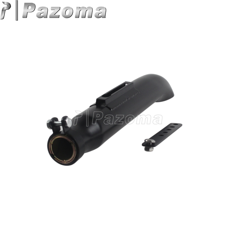 Exhaust Silencer For Cafe Racer Bobber Chopper Motorcycle Black Exhaust Mufflers Pipe|exhaust silencer|exhaust muffler|silencer for motorcycle - title=